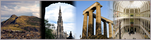 Pictures of Edinburgh attractions