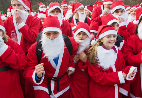 Ready to race - The Great Edinburgh Santa Run