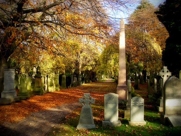 Dean Cemetery on Halloween