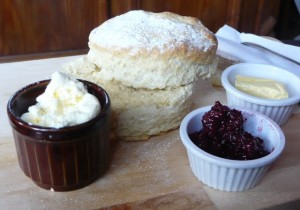 Scone and homemade jam