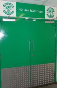 The doors to the pitch