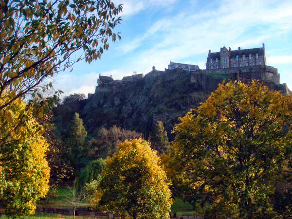 Princes St Gardens on a beautiful Autumn day