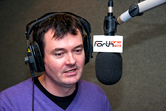 Grant Stott, live on air