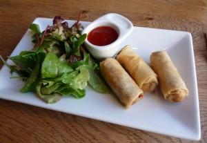 Haggis spring rolls
