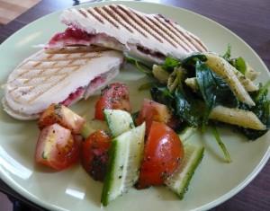 Panini with salad
