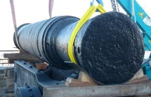 Suspended barrel of Mons Meg