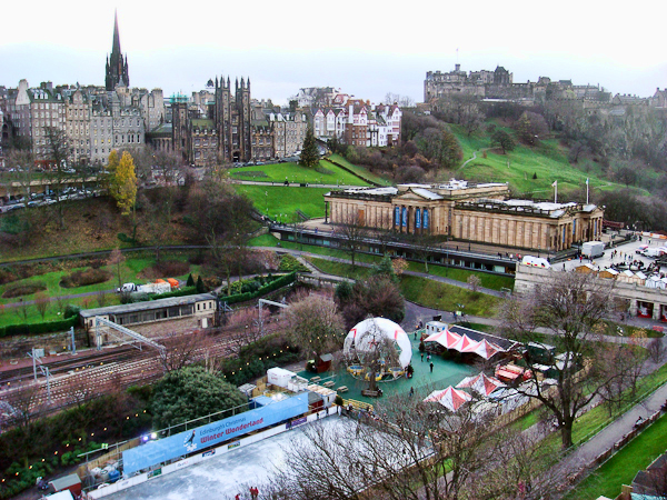 The Mound from the Edinburgh Wheel