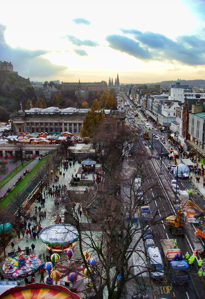 From the top of the Edinburgh Wheel