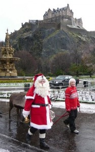 Santa below the Castle