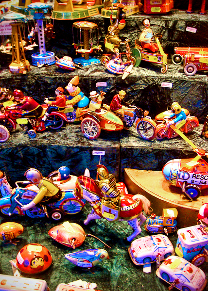 Traditional toys on sale at the German Christmas Market