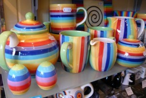 Bright crockery