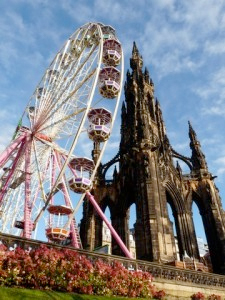 The Edinburgh Wheel, one of the many attractions at the Winter Wonderland