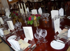State dining room table