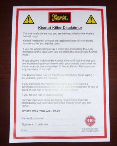 Kismot disclaimer