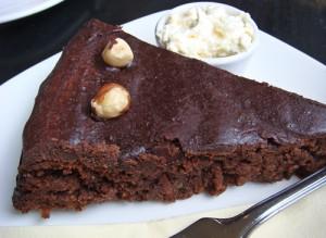 Chocolate, orange & walnut cake