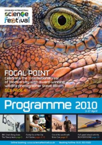 Edinburgh International Science Festival programme 2010