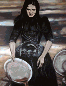 The Herring Lassies by Davy Macdonald