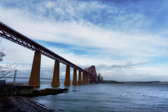 The iconic Forth Bridge