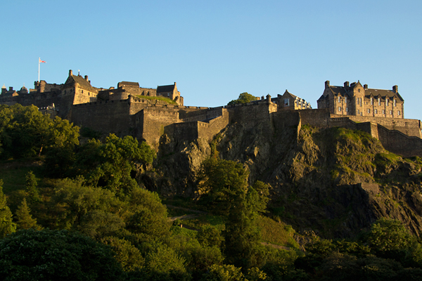 Edinburgh Castle in the golden light of a summer's evening