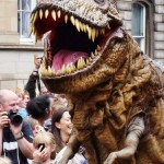 The T-Rex wows (and scares) the crowds