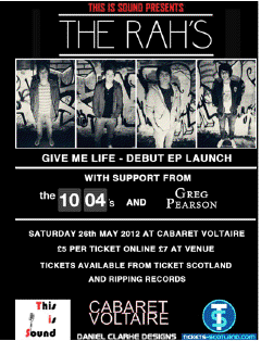 The Rah's EP launch - 26 May