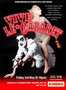 Vive le Cabaret at the Brighton Fringe