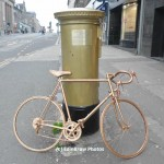 Mark Brown captured a golden bike addition to the postbox
