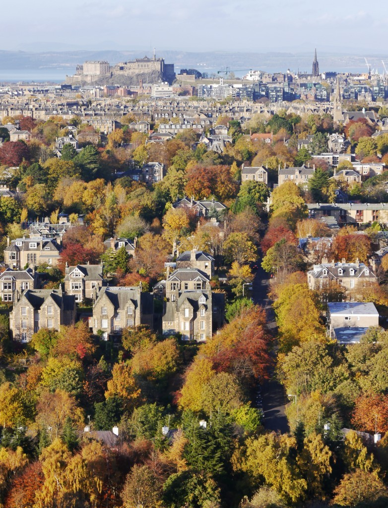 View from Blackford Hill in Autumn