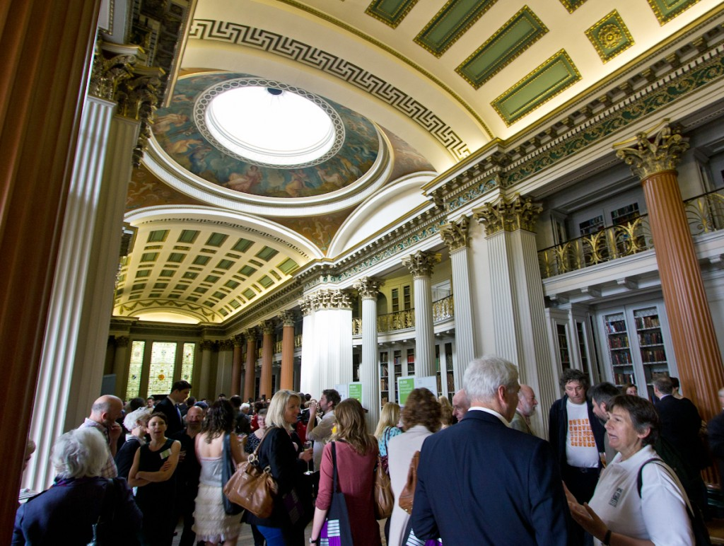 The launch of the Edinburgh International Book Festival in the Signet Library