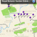 purpleTrails Edinburgh Book Trails iPhone app