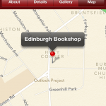 The map feature makes tracking down the shops easy
