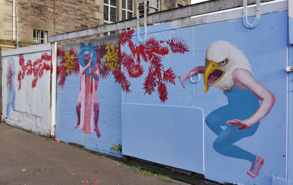 Dalmeny Street mural by Kirsty Whiten as part of Leithlate 2015