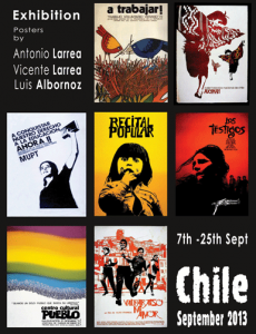 Chilean Poster Exhibition at Summerhall until 25 Sep