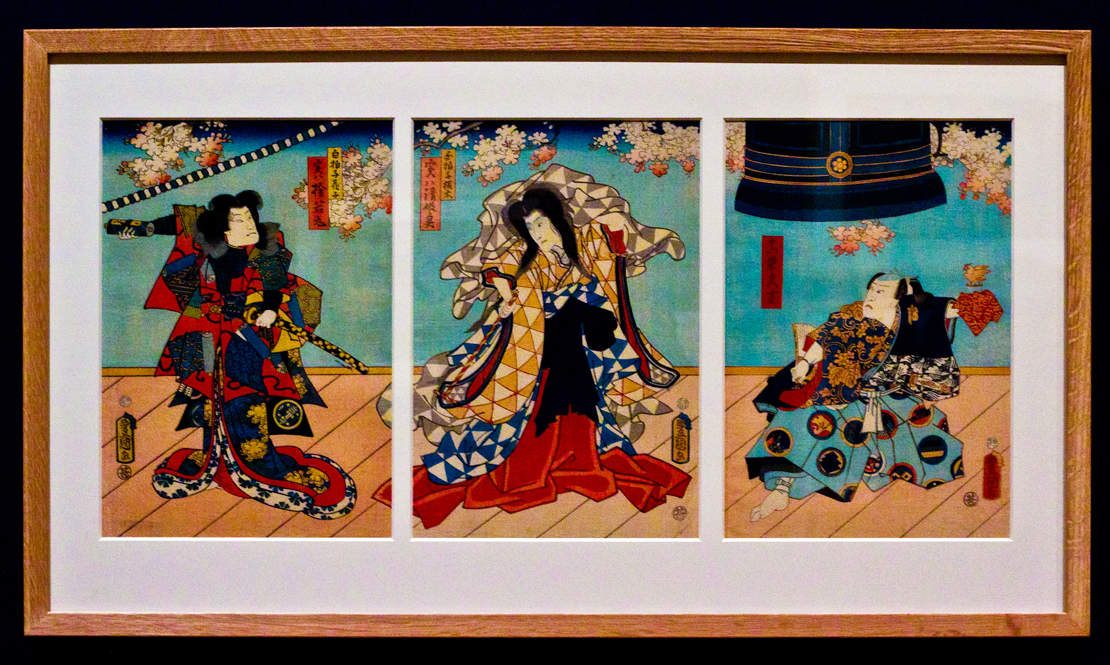 Exhibition kabuki japanese theatre prints national for 3 by 3 prints