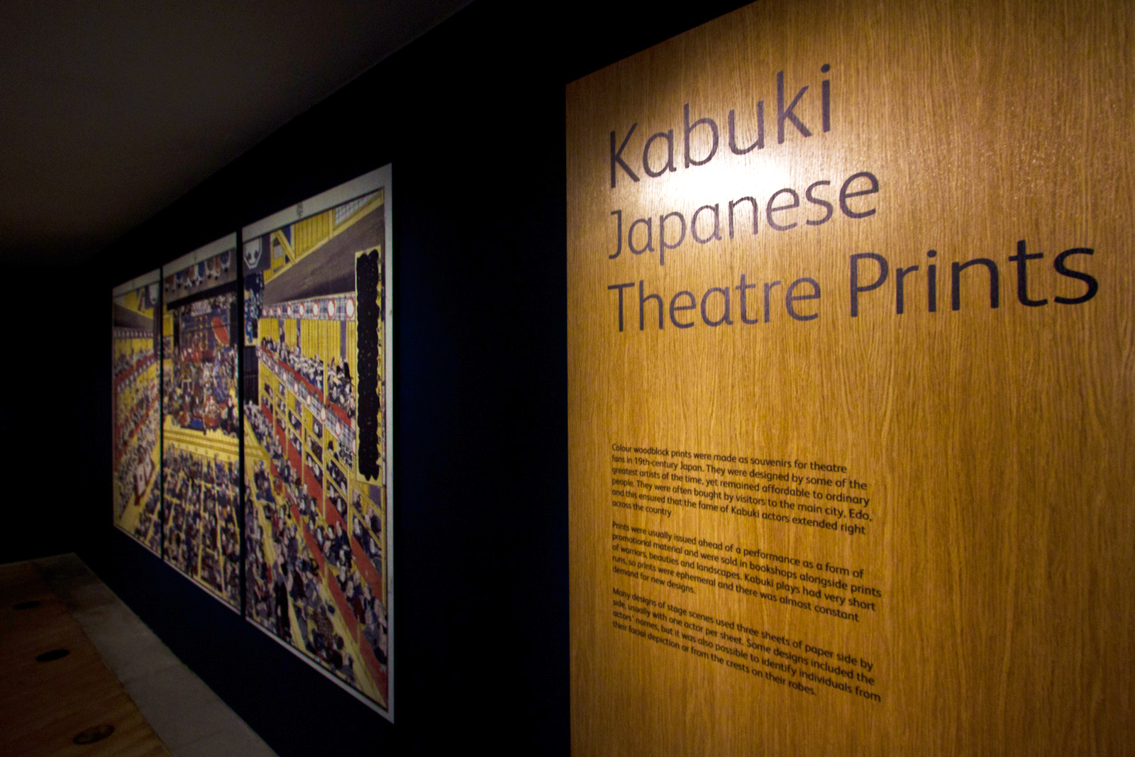 Edinburgh Exhibition Kabuki Japanese Theatre Prints