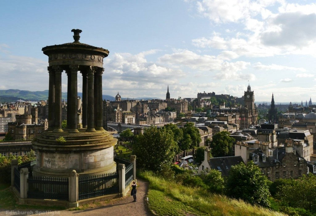 Classic Edinburgh view from Calton Hill