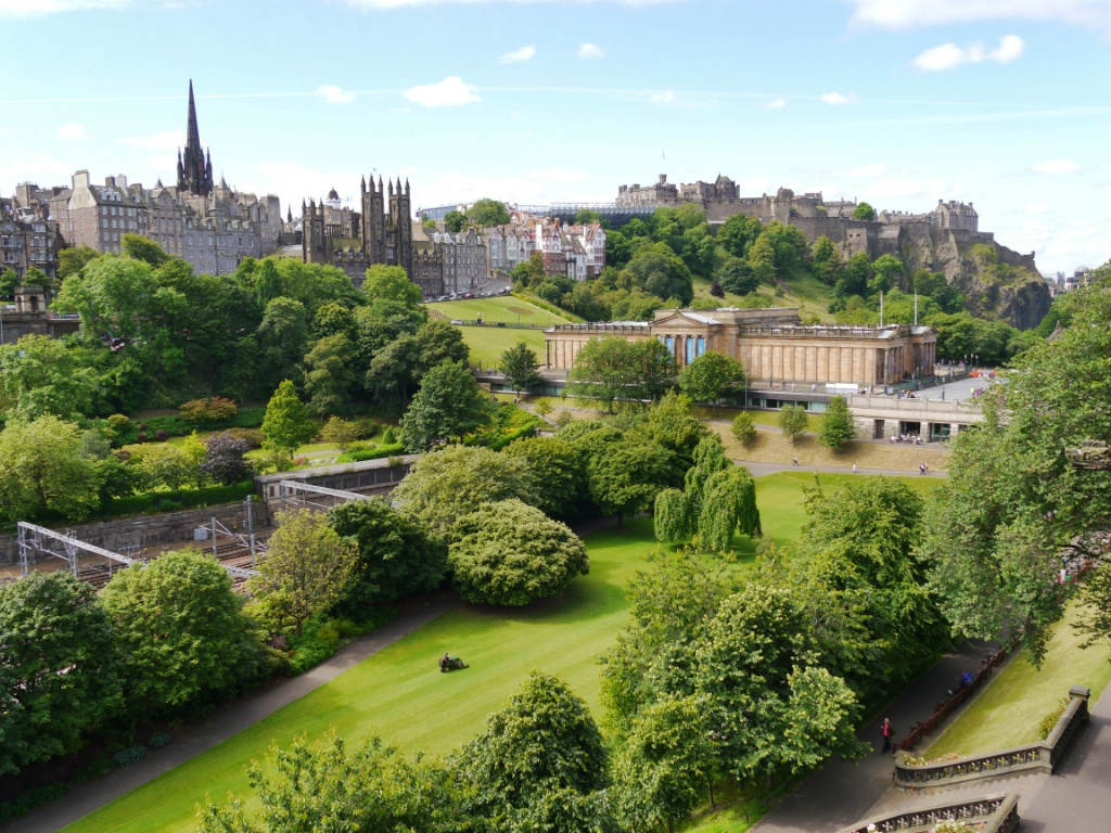 Summer view from the Scott Monument