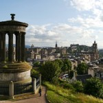 The classic Edinburgh view from Calton Hill