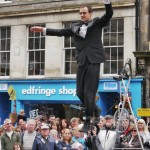 Street entertainment on the Royal Mile