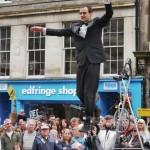 Street entertainment on the Royal Mile