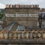 Looking over to the Royal British Hotel