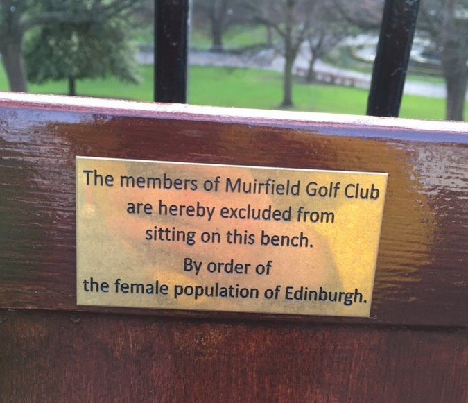 Spotted on Princes Street. Photo by Denise Christie