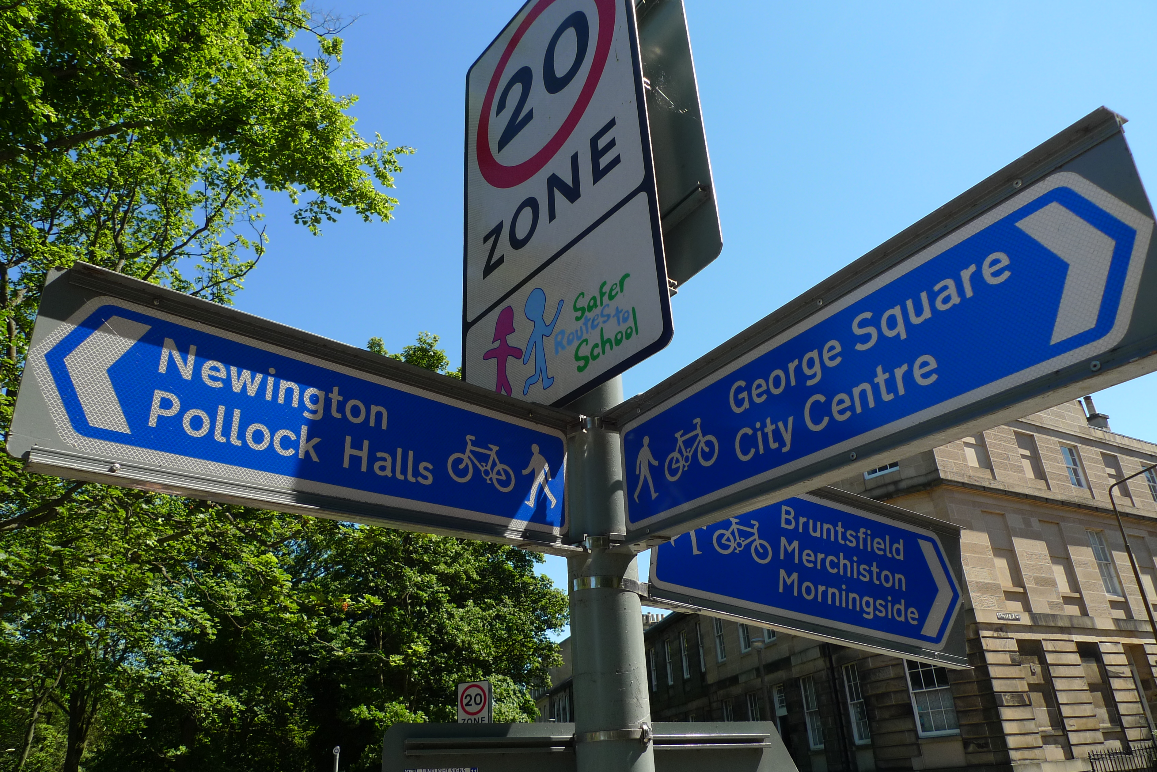 Cycling signs across the city