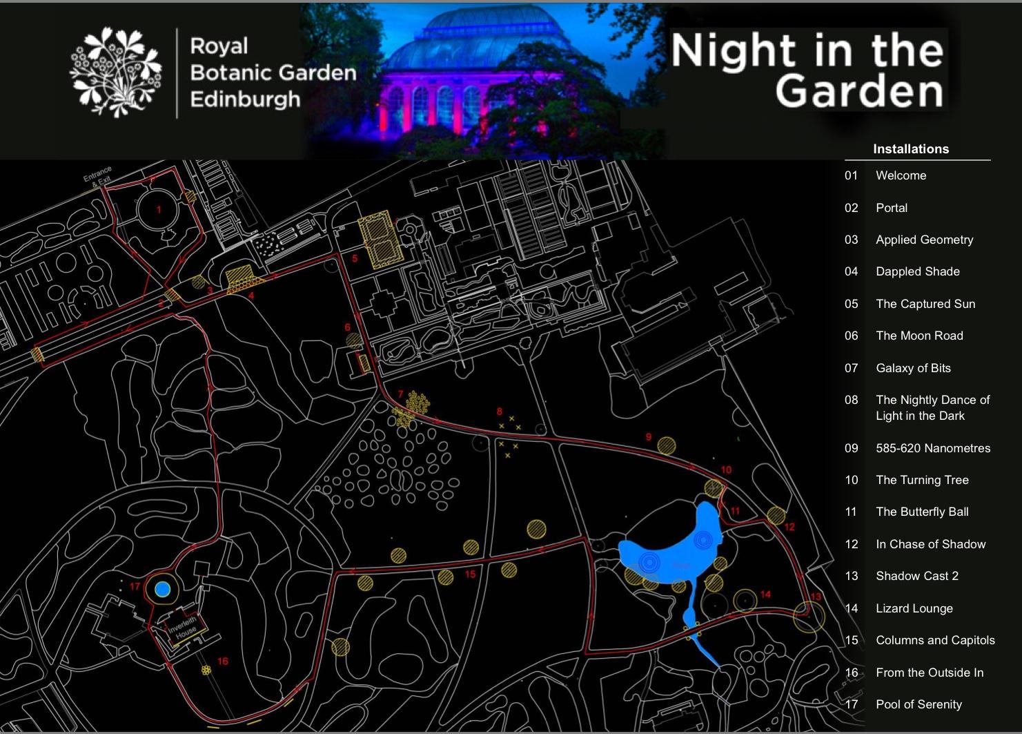 Edinburgh EVENT Night in the Garden 30th October November