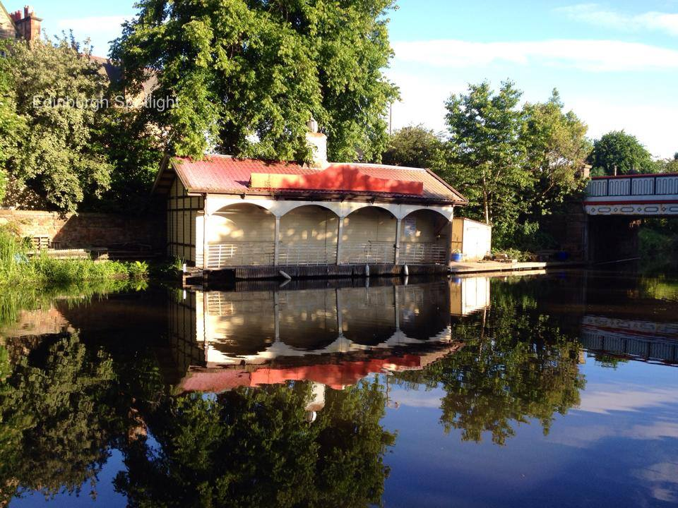 The boat house on the Union Canal