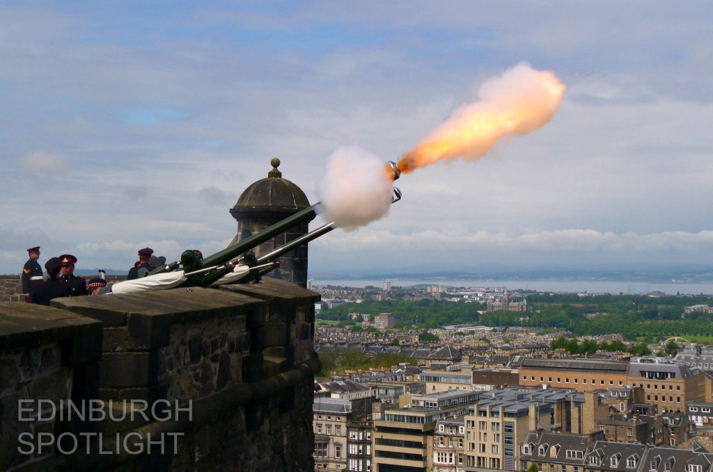 Cannon firing at the Castle