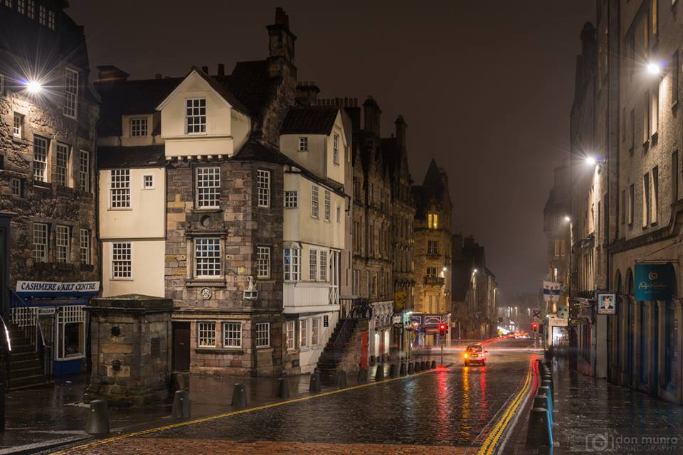 A rainy night on the Royal Mile