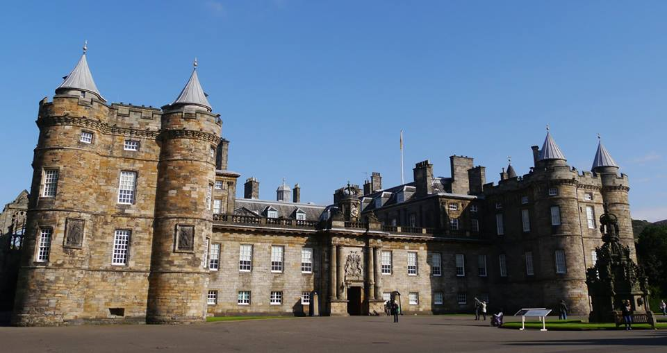 Holyrood Palace at the bottom of the Royal Mile