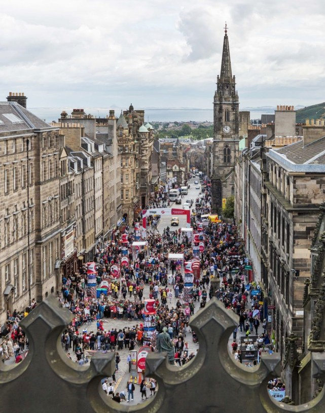 The Royal Mile during the Fringe (taken from St Giles' roof)