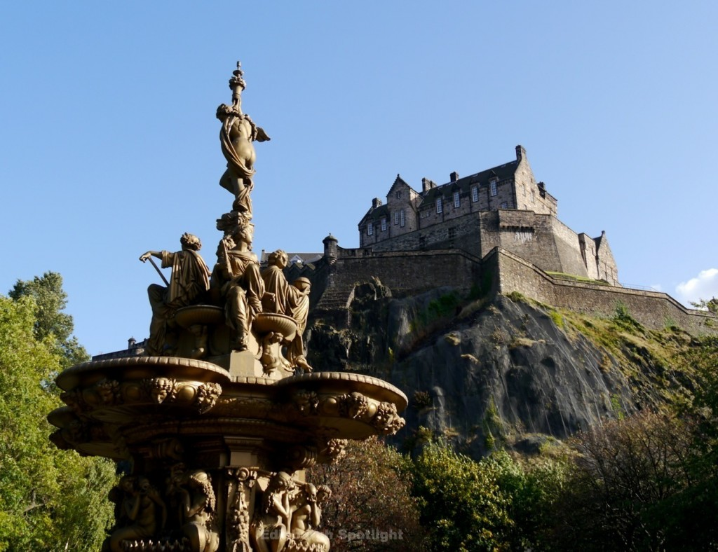 From West Princes Street Gardens